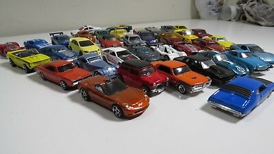 Die Cast Toy Muscle Cars Hot Wheels Matchbox More Lot Of 36