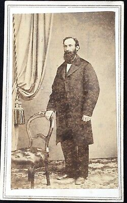 Tax Stamped San Francisco, CA CDV of Standing Man by Perkins & Foss California