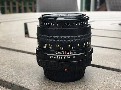 Great Condition Aetna Rokunar MC Auto 1:2.8 F=28mm Lens