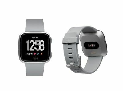Fitbit Versa Smartwatch - Gray Silver Aluminum - One Size (S & L Bands Included)