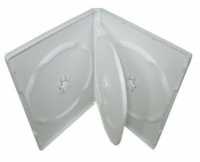 NEW CD/DVD CASE BOX WHITE 4 disc 14 mm