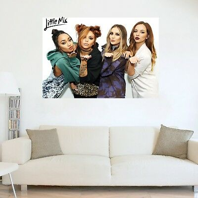Little Mix Blowing Kisses Wall Art Poster MANY SIZES Glossy Tour Band 2018 Music