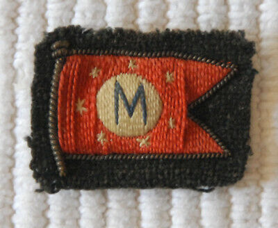 """Old Matson Lines  1.25"""" x 1"""" Embroidered Cloth Patch with Matson Flag"""