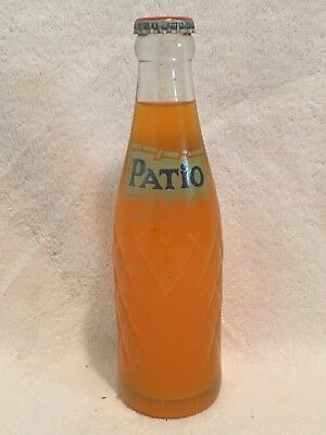 FULL 7oz PATIO ORANGE ACL SODA BOTTLE PEPSI-COLA COMPANY TOUGH SIZE