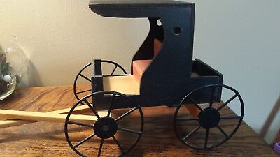 Handcrafted Wooden Amish Buggy