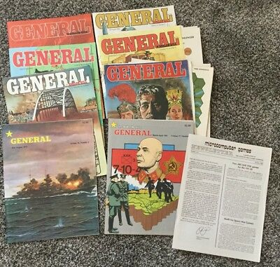 Lot of 8 GENERAL Avalon Hill Back Issues 1982 79 81 War Games Strategy RPG VTG