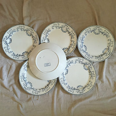 6  Assiettes Creuses Sarreguemines  Decor  Mozart