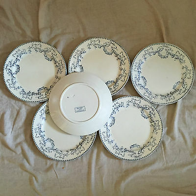 6 Assiettes Plates Sarreguemines Decor Mozart