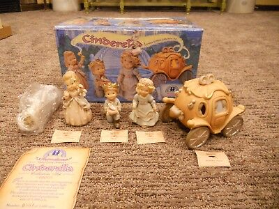1997 Enesco Memories of Yesterday Lighted Cinderella Limited Edition Set NIOB