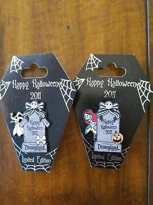Pair of Limited Edition Halloween pins feat. Nightmare Before Christmas