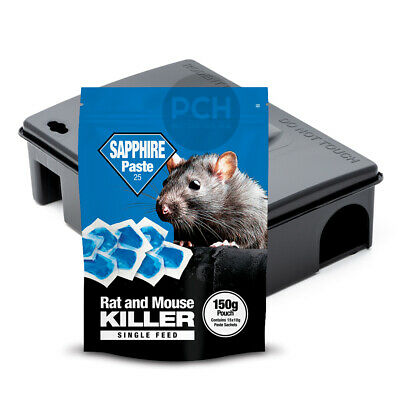 Rat Killer Poison Professional Strength Whole Wheat Grain with Bait Box Station
