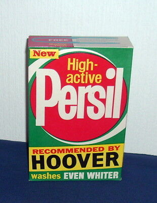 Rare Vintage Unopened Persil Washing Powder Packet C1960s - Hoover Machines