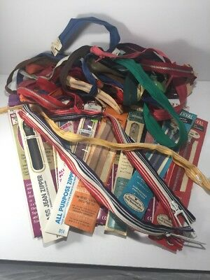 Large Mixed Lot of Vintage Zippers Talon J&P Coats Serval Lily Jean Ziplon 50+