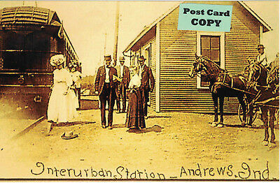 Interurban Traction Station (Trolley Depot) at Andrews, Huntington Co IN Indiana