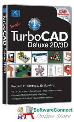 Imsi TurboCAD 2018 Deluxe Turbo CAD 2D 3D DESIGN ARCHITECTURAL DRAFTING MODEL