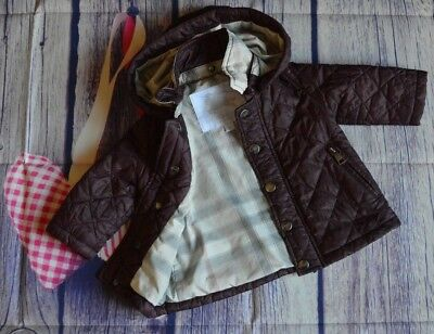 Burberry Baby Boy Or Girl Designer Diamond Quilted Jacket 6 Months Very Good