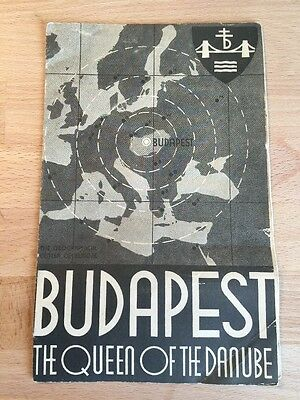 VTG 1935 QUEEN OF THE DANUBE Budapest Hungary Travel Tourist Brochure Pamphlet