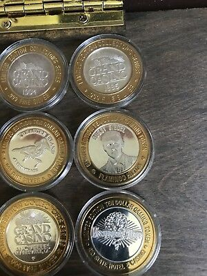 Casino gaming tokens .999 silver Great shape Variety 21 Tokens