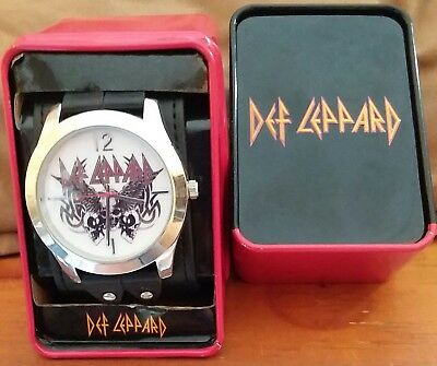 M.Z. Berger Def Leppard Analog Watch in Collector's Tin