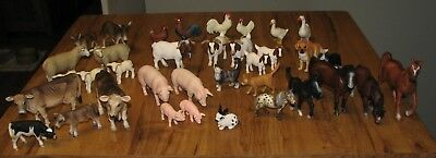 Schleich Farm Animals 36 Cow Horse Geese Cat Sheep Pig Dog Chicken Rabbit Donkey