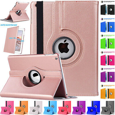 Swivel Leather 360 Degree Rotating Smart Stand Case Cover For Apple iPad 2 3 4