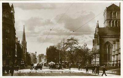 Real Photographic Postcard Of Nethergate, Dundee, Angus, Scotland By Valentine's