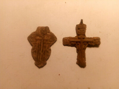 Metal detector finds. Ancient finds, ancient cross N10