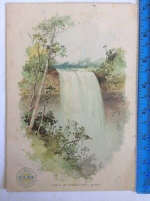 Clark's Spool Cotton Sewing Thread Victorian Trade Advertising Card Minnesota