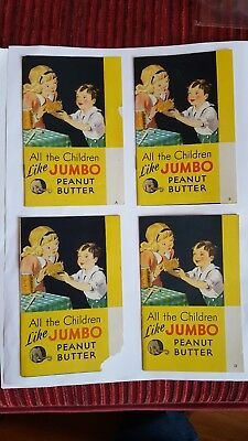 ALL THE CHILDREN LIKE JUMBO PEANUT BUTTER - RECIPE BOOKLETS A,B,C,and D