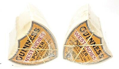 Two Packs (200) Of Guinness  West Indies Porter Vintage Style Beer Mats Coasters