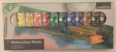 WATERCOLOUR PAINTS - BOX of 12 tubes and ACRYLIC PAINTS - BOX of 12 tubes
