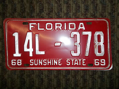 LOT OF 2 1968 Florida License Plate - Marion County Semi-trailer NOS
