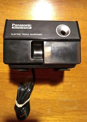 Vintage Panasonic Auto-Stop Electric Pencil Sharpener KP-110 Retro Black
