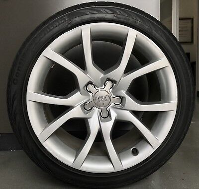 2012 Audi A5 18 Oem Wheels And Continental Tires Set Of 4