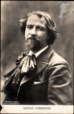 Vintage 1900's Postcard French composer Gustave Charpentier