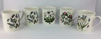 Set Of 5 Portmeirion Botanic Garden Butterfly Coffee Cup Mugs