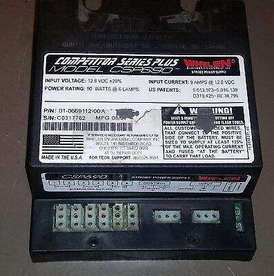 Whelen Competitor Series Plus CSP690 6 Outlet 90W Strobe Power Supply