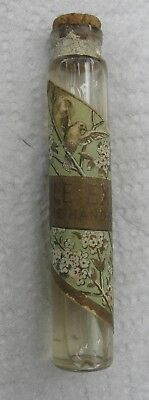 Handkerchief Extract Cologne Bottle with contents & cork. Old label VINTAGE