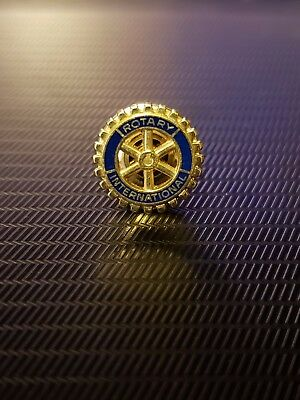 Vintage Rotary International Club Member 1/10 10k GF Gold Lapel Pin Tie Tac