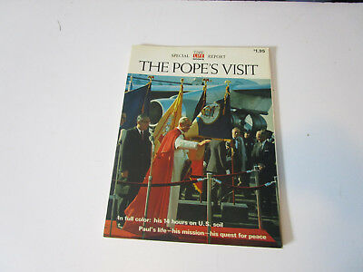 Time Life The Popes Visit Illus Booklet  1965 In Full Color