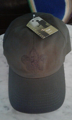 Official Boy Scout/ Webelo cap olive green size M/L  NWT