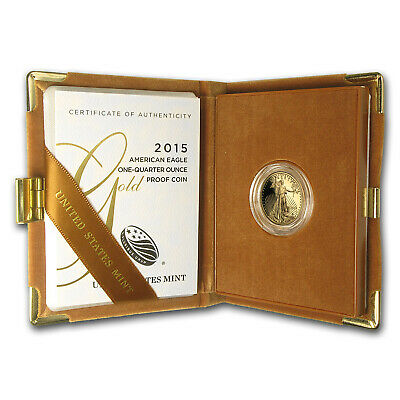 2015-W 1/4 oz Proof Gold American Eagle (w/Box & COA) - SKU #88356