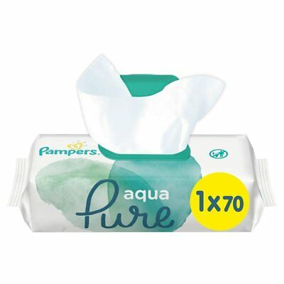 Pampers Aqua Pure Water Wipes Protection Baby Sensitive Wipes 1 3 6 9 12 Pack