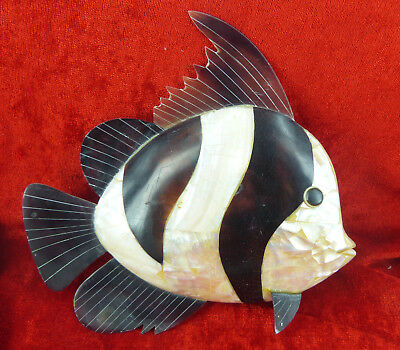 Large Mother Of Pearl Shell Fish For Interior Decor Or Display