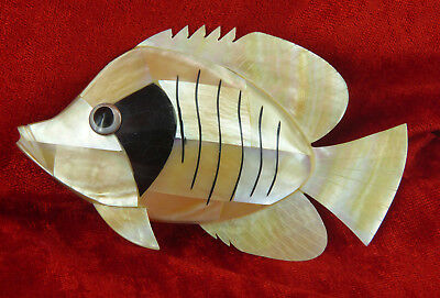 Wonderful Mother Of Pearl Shell Angel Fish Ideal For Home Decor Or Fish Lovers