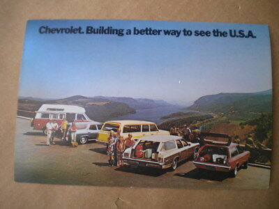1972 Chevrolet Wagon Car Dealers  Post Card