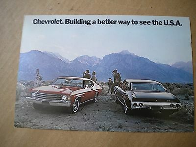 1972 Chevrolet Malibu Car Dealers  Post Card