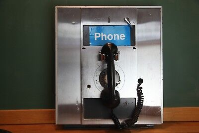 Vintage Authentic Rotary Dial Recessed Public Pay Phone- 5, 10 & 25 cents