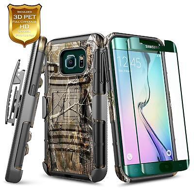 For Samsung Galaxy S6 Edge Plus | Shockproof Belt Clip Holster Kickstand Case
