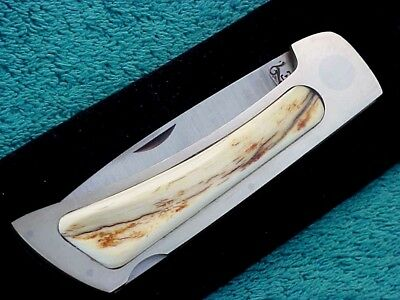 Jimmy Lile Interframe Folder Pocket Knife Bark Scales Dot Or No Dot Unused